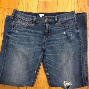 J Crew Stretch Jeans Distressed Women's Size 26